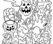 Coloring pages Halloween boo monster