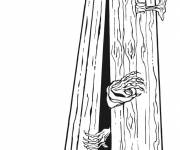 Coloring pages halloween vampire coffin