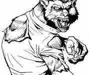 Coloring pages halloween werewolf drawing