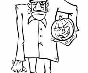 Coloring pages Monsters frankenstein Halloween