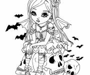 Coloring pages Pretty vampire drawing