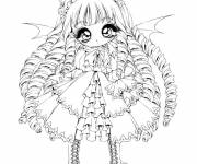 Coloring pages Pretty vampire girl
