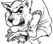 Coloring pages terrifying werewolf halloween