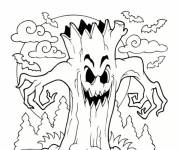 Coloring pages The monstrous tree