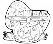 Coloring pages A halloween pumpkin drawing