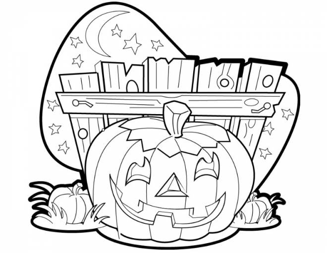 Free coloring and drawings A halloween pumpkin drawing Coloring page