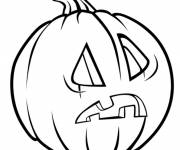 Coloring pages Amazed halloween pumpkin