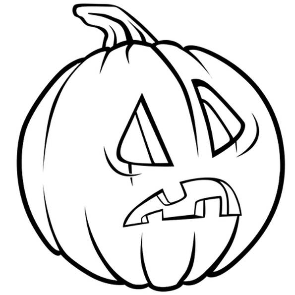Free coloring and drawings Amazed halloween pumpkin Coloring page