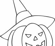 Free coloring and drawings Child Halloween Pumpkin Coloring page