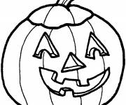 Free coloring and drawings Children's Halloween Pumpkin Coloring page