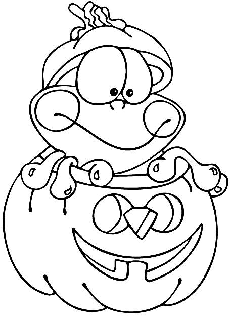 Free coloring and drawings Color the drawings of Halloween Pumpkins Coloring page