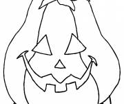 Coloring pages Easy Halloween Pumpkin