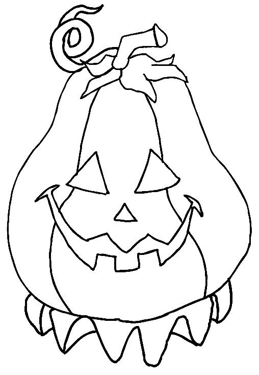 Free coloring and drawings Easy Halloween Pumpkin Coloring page