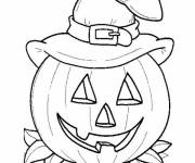 Free coloring and drawings Easy pumpkin image Coloring page