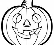 Free coloring and drawings Halloween Pumpkin adult Coloring page