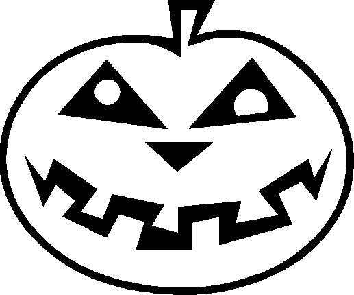 Free coloring and drawings Halloween pumpkin easy  Coloring page