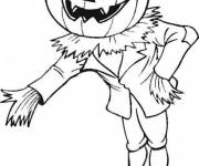 Free coloring and drawings Halloween pumpkin head Coloring page