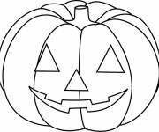Free coloring and drawings Halloween pumpkin in color Coloring page