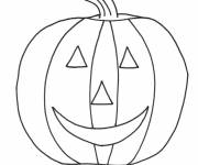 Free coloring and drawings Halloween pumpkin in pencil Coloring page