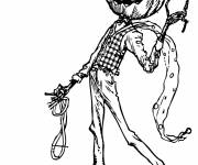 Free coloring and drawings Halloween pumpkin in person Coloring page