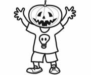 Coloring pages Halloween pumpkin mask