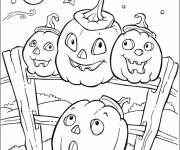 Coloring pages Halloween pumpkins