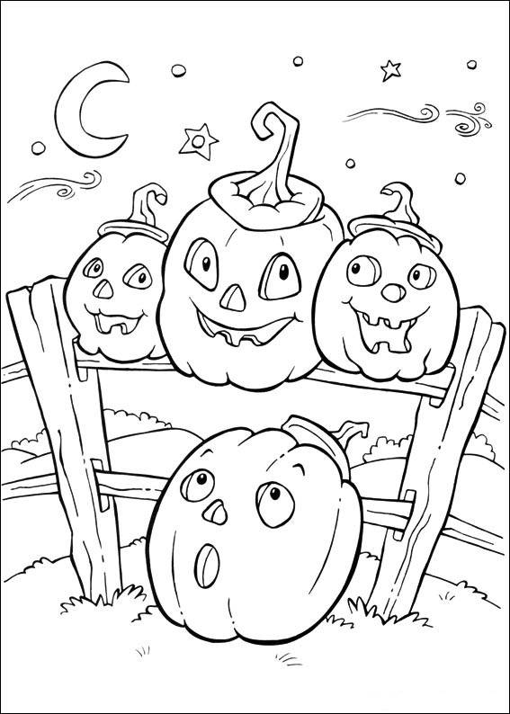 Free coloring and drawings Halloween pumpkins Coloring page