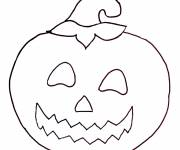 Free coloring and drawings Maternal halloween pumpkin Coloring page