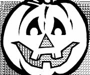 Free coloring and drawings Pumpkin for Halloween vector Coloring page
