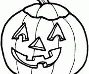 Free coloring and drawings Simple and easy Halloween pumpkin Coloring page