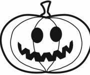 Coloring pages So funny halloween pumpkin