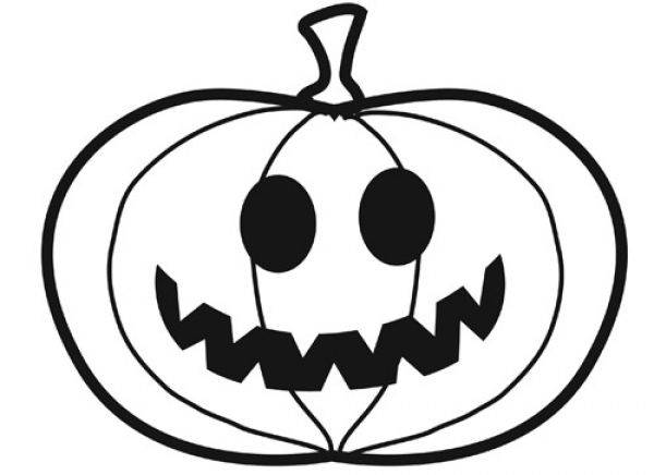 Free coloring and drawings So funny halloween pumpkin Coloring page