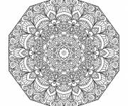 Coloring pages Adult Mandala flowers to color
