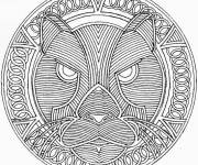 Coloring pages Adult Tiger Difficult