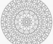 Coloring pages Angular Difficult Mandala