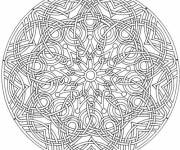 Coloring pages Artistic mandala to decorate