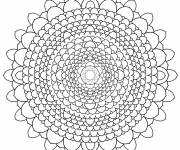 Coloring pages Complex mandala to cut