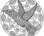 Coloring pages Difficult Bird Mandala
