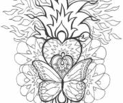 Coloring pages Difficult Fire Mandala
