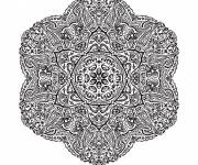 Coloring pages Difficult Mandala vector