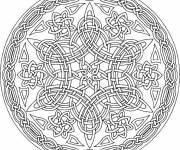 Coloring pages Difficult oriental mandala