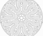 Coloring pages Drawing mandala for adults