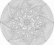 Coloring pages Sun Mandala in black