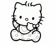 Coloring pages Hello Kitty baby