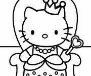 Coloring pages Hello Kitty cartoon in French