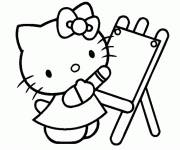 Coloring pages Hello Kitty draws maternal