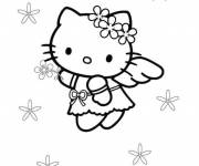 Coloring pages Hello Kitty Flying Angel