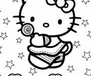 Coloring pages Hello Kitty Beach vector
