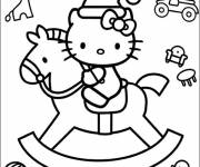 Coloring pages Hello Kitty and Christmas Toys