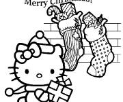 Coloring pages Hello Kitty cartoon for christmas